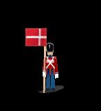 Kay Bojesen Fanebærer Med Tekstilflag Mini