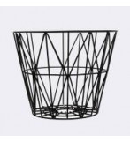 Wire Basket 60x45 Cm Sort
