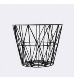 Wire Basket 50x40 Cm Sort