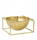 Kubus Bowl Centerpiece Stor - Messing