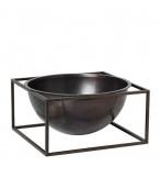 Kubus Bowl Centerpiece Stor - Bruneret Kobber