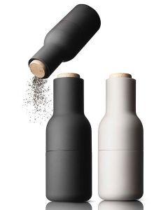 Salt Og Peber Kværn Hvid-Sort Træ Top