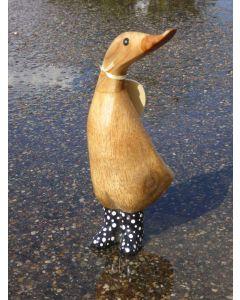 Natural Welly Duckling - Sorte gummistøvler med hvide prikker