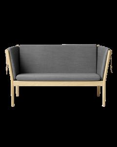 J148 2-personers sofa - Eg/Antracitgrå