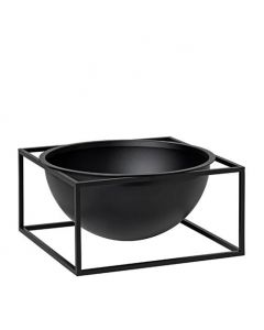 Kubus Bowl Centerpiece Stor - Sort